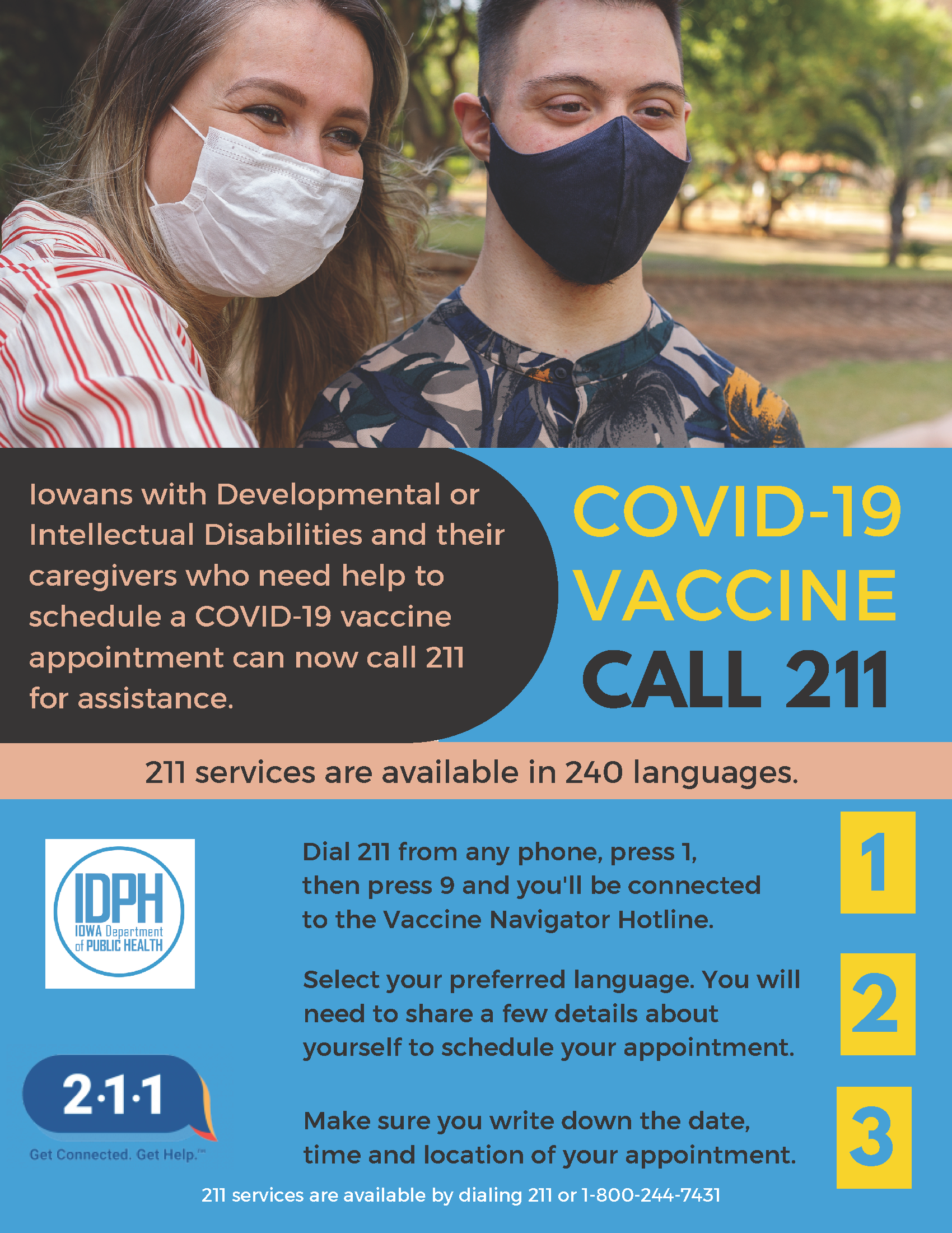 211 COVID-19 Vaccine Appointment Assistance